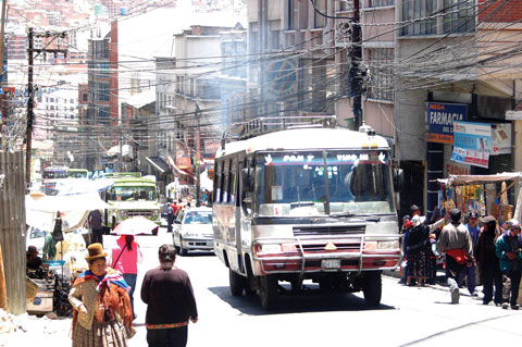A bus in Bolivia
